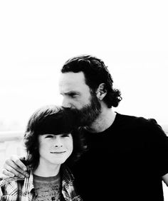 """The Walking """"Dad"""": See Chandler Riggs' Sweet Birthday Note For """"Idol"""" Andrew Lincoln Chandler Riggs, Best Tv Shows, Best Shows Ever, Rick And Carl, Hemlock Grove, Carl Grimes, Judith Grimes, Fear The Walking Dead, Stuff And Thangs"""