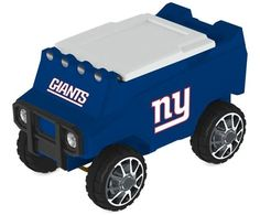 Let the fun begin with your remote control New York Giants Cooler. Holds 30 cans plus ice. Officially licensed by the NFL. Free shipping. Excellent quality. Visit sportsfansplus.com for details.