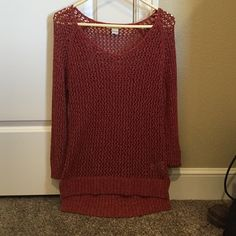 Sweater This has never been worn and runs kind of small. Super cute and should be worn with a tank under it. Lucky Brand Tops Blouses
