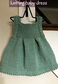 Crochet D Reversible Beanie In Two Colors Her Crochet Igaraci - Diy Crafts - hadido Girls Knitted Dress, Girls Poncho, Knitted Baby Clothes, Baby Knits, Crochet Dresses, Knit Baby Pants, Knit Baby Dress, Baby Cardigan Knitting Pattern, Free Baby Knitting Patterns