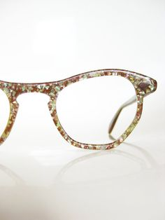 Vintage HOLOGRAPHIC Cat Eye Glasses NOS New Old by OliverandAlexa, $125.00