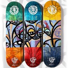 #Elementbrand - Markovich Comrades Series is here!  Perfect on your wall  #elementskateboards #comrades #skateboarding