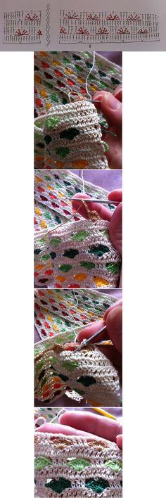 hearty crochet shells - sweet crochet stitch!