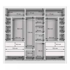 Couple Wardrobe with 3 Mirror 3 Doors Siena Furniture White .- Guarda Roupa Casal com 3 Espelho 3 Portas Siena Móveis Branco – MadeiraMadeira Double Wardrobe with 3 Mirror 3 Doors Siena Furniture White – MadeiraMadeira -the chosen wardrobe desig Wardrobe Design Bedroom, Master Bedroom Closet, Bedroom Wardrobe, Wardrobe Closet, Wardrobe Storage, Mirrored Wardrobe, Clothes Storage, Wardrobe With Mirror, White Double Wardrobe