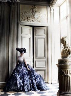 Photos: Kristen Stewart Models Parisian Couture in Vanity Fair   by Mario Testino