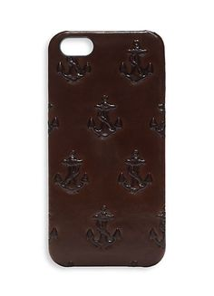 Embossed Anchor iPhone Case
