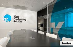 Visual for office branding for Key Conveyancing in Northampton