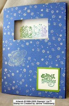 Out of this World Birthday Card. using Stampin Up Out of This World retired stamp set