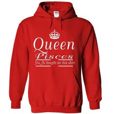 pisces queen - #tshirt sayings #sweater dress. CHECK PRICE => https://www.sunfrog.com/LifeStyle/pisces-queen-8910-Red-Hoodie.html?68278