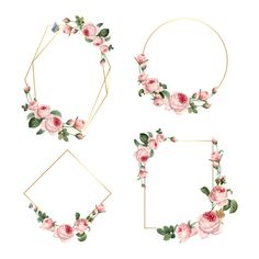 Discover thousands of copyright-free vectors. Graphic resources for personal and commercial use. Thousands of new files uploaded daily. Rose Frame, Flower Frame, Blank Pink, Invitation Cards, Wedding Invitations, Pink And White Background, Wreath Drawing, Wedding Frames, Bullet Journal Ideas Pages
