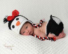 Penguin Newborn Prop/Newborn Photo Prop  Penguin by WillowsGarden