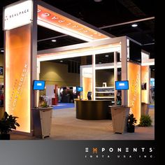 Modular trade show booth LUMITURE is internally lit frame structure for trade shows. This custom modular display exhibit supports fabric or rigid panel graphics. Walls & roofs of this exhibition system make high impact ranging from 10'x20' booth space to larger display exhibit booth spaces. This trade show booth display is also available as rental exhibits. Opting for exhibit booth rental saves huge cost & keeps you hassle free from the issue of storing the entire exhibition booth.