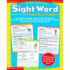Engaging Reproducible Activity Pages That Help Kids Recognize, Write, and Really LEARN the Top 100 High-Frequency Words That are Key to Reading Success Builds Reading Confidence! Watch confidence soar