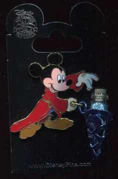 Sorcerer Mickey Vial of Magic Dust Dangle Disney Pin 82587