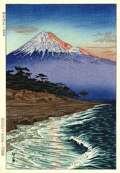hanga gallery . . . torii gallery: Fuji from Seaside by Koichi Okada