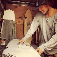 Timmy Reyes shaping boards. http://www.swell.com/FIREWIRE?utm_source=blog&utm_medium=streetstyle&utm_campaign=1030
