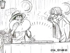 One Piece, Strawhat Pirates, Sanji, Luffy