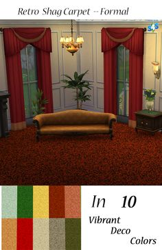 Sims 4 CC's - The Best: Retro Shag Carpet by SimsFanForEvermore