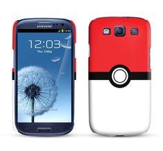Samsung Galaxy S3 Case Pokeball / Pokemon Inspired Cell Phone Cover. $24.95, via Etsy.