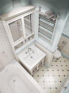 Фотография:  в стиле , Ванная, Россия, Планировки, Мебель и свет, Белый, Проект…