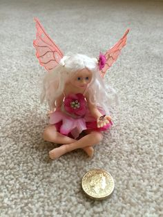 1:12 scale fairy made from polymer clay