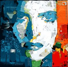 Collage Artwork: Collage Art by Derek Gores Collage Portrait, Collage Artwork, Collage Ideas, Portraits, Derek Gores, Birthday Photo Collage, Magazine Collage, Recycled Art, Art Plastique