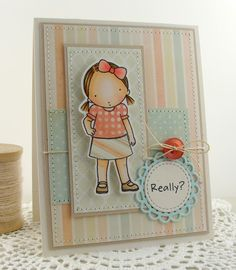 I made this cutie using MFT Pure Innocence Feeling Sassy stamp set and some die-namics dies.