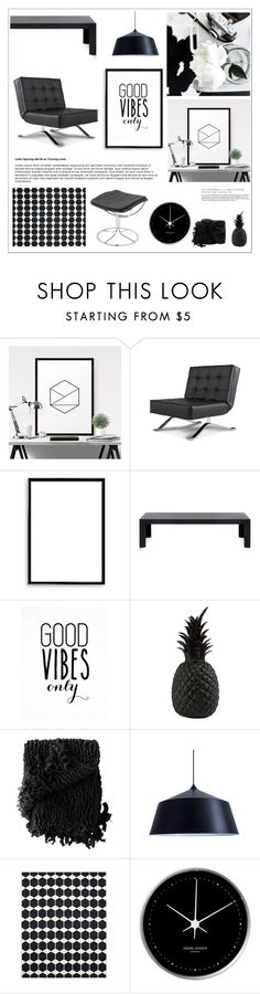 """""""Sin título #2391"""" by liliblue ❤ liked on Polyvore featuring interior, interiors, interior design, home, home decor, interior decorating, Bomedo, Kartell, Pols Potten and Woven Workz"""