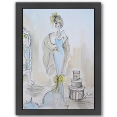"""East Urban Home Sunday Shopping Framed Print of Painting Size: 26.5"""" H x 20.5"""" W x 1.5"""" D"""