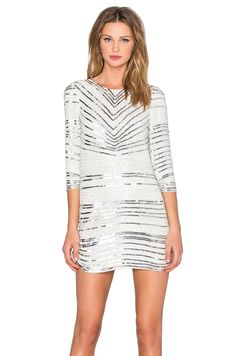 Parker Black Petra Dress in Silver