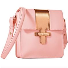Juicy Couture Crossbody Authentic! Brand new without tags, received it as a gift and never used it. It's in light pink/blush pink and gold combination of colors. With adjustable strap, has no pockets. NWOT Juicy Couture Bags Crossbody Bags