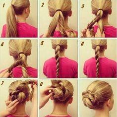Le mardi c'est tuto coiffure avec ce chignon roulé. Pour les filles qui ont les cheveux mi longs à longs, cette coiffure est idéale et facile à réaliser. En plus, ça vous évitera d'avoir trop chaud l'été et vos cheveux resteront en place toute la journée ! A vous de jouer...