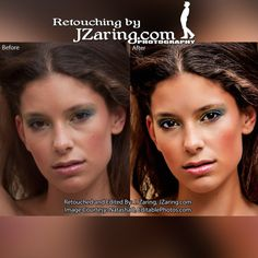 jzaring:  Before and after of my retouching work. More examples...