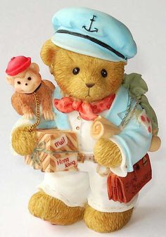 "Ross ""Just, You, Me & The Sea"" Boyds Bears, Teddy Bears, Kimberly Ann, Tatty Teddy, Bear Art, Nautical, Kittens, Clay, Decorations"