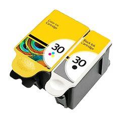 2x Kodak 30XL Black & Colour Ink Cartridges for ESP Office 2150 , Office 2100 , Office 2170, Printer