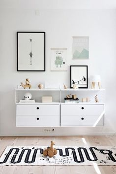 simple white shelf