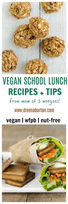HEALTHY VEGAN School Lunch Recipes + TIPS for packing school lunches!