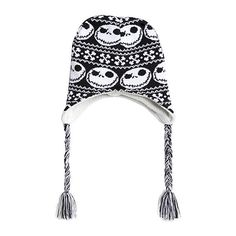 The Nightmare Before Christmas Jack Reversible Beanie | Hot Topic ($16) ❤ liked on Polyvore