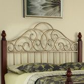 Found it at Wayfair - St. Ives Wood and Metal Headboard