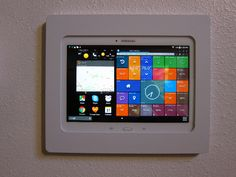 This new installation features a semi-removable Galaxy Tab S 10.5 mounted onto a wall for home controls & instant information! (Series Credit: P. Sanchez)