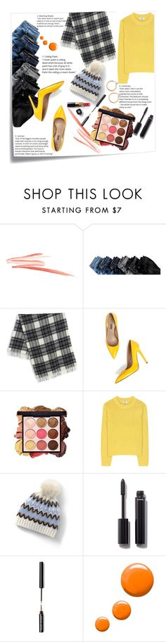 """""""Gray and Yellow idea"""" by alexispengu ❤ liked on Polyvore featuring Post-It, Weekend Max Mara, Acne Studios, Lands' End, Chanel, Bobbi Brown Cosmetics, Topshop and Nordstrom"""