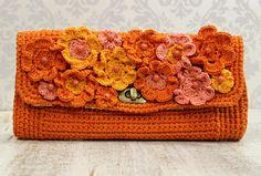 Artesanato com amor...by Lu Guimarães: Crochê: Bolsa de Mão Primavera