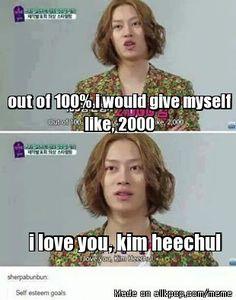 self confidence level: Kim Heechul X'DD