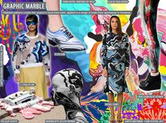 Women's Key Print Trend, S/S 2016. GRAPHIC MARBLE