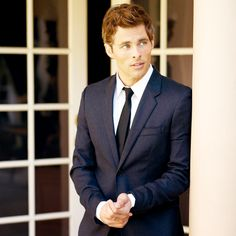 James Marsden...in a suit. I think my life is complete.