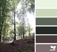 Сочетание зеленого и коричневого цветов