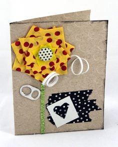 Duct Tape Flower and card inspiration. www.craft-e-corner.com
