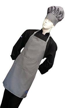 Chefskin Light Grey Adult Chef Set Apronhat Adjustable Ultra Lite Fabric * You can find more details by visiting the image link.