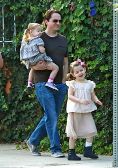 melissa mccarthy husband Ben Falcone with daughters Vivian, and Georgette