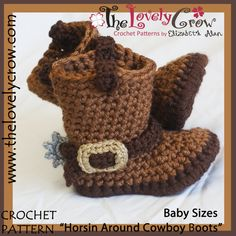 38 Ideas For Crochet Baby Boy Boots Red Hearts Crochet Cowboy Boots, Crochet Baby Boots, Booties Crochet, Crochet Shoes, Crochet Slippers, Cowboy Baby, Crochet Boots Pattern, Crochet Patterns, Crochet For Kids